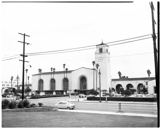 Negative of Union Station building, 1957