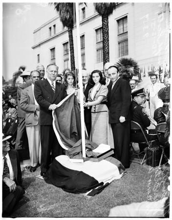 Columbus Day at City Hall, 1951