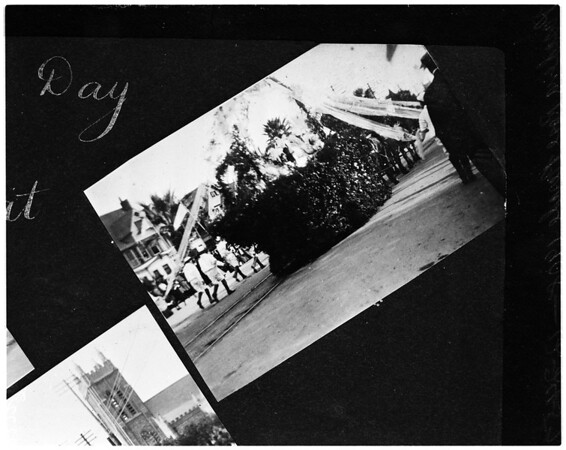 Pasadena Rose Parade taken with a 1908 Brownie camera, 1957