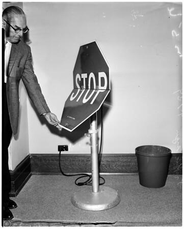 New traffic signs, 1959