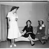 Stanford Women's Club planning fashion tea at Broadway Hollywood, 1952