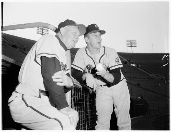 Warren Spahn baseball feature, 1961