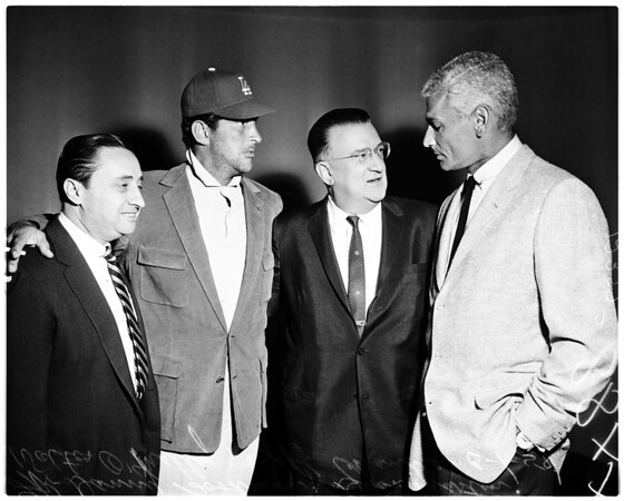 Dodgers boosters for Prop-B (on TV), 1958