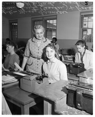 Rose Queen back to school, 1958