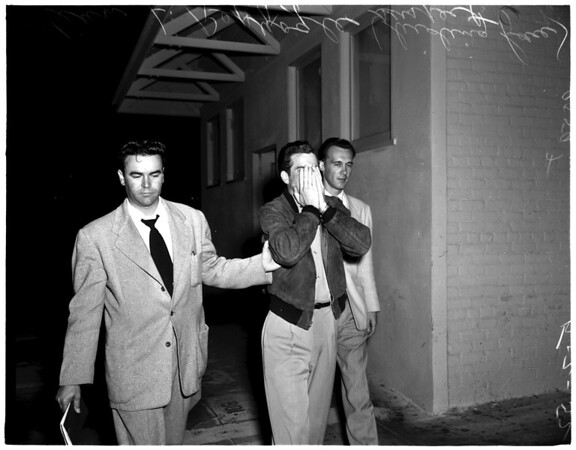 Narcotics arrest on ship, 1952.