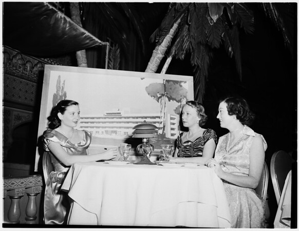 Freeman Hospital party at Coconut Grove, Ambassador Hotel, 1952