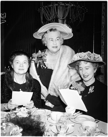 Arthritis and Rheumatism  Foundation Fashion luncheon, 1958