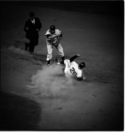 Baseball... Los Angeles Angels versus Kansas City, 1961