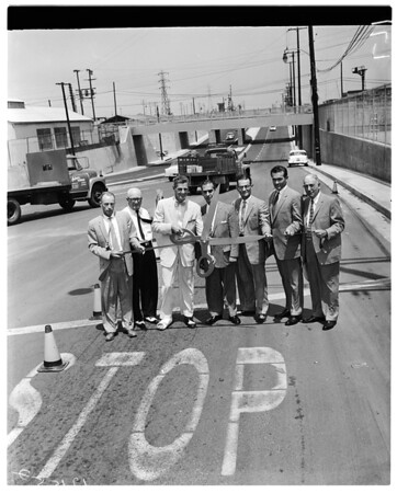 Washington Boulevard underpass dedication, 1957