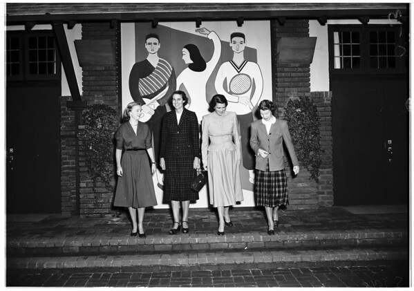 Westridge School benefit play plans, 1952