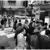 Crowds watch for flash of atomic bomb, 1952