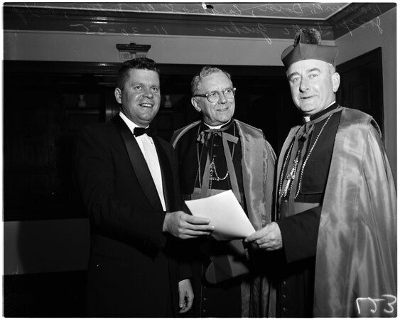 Bishop McGucken reception, 1955