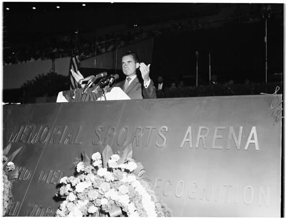Nixon dedication of Sports Arena (General views), 1959
