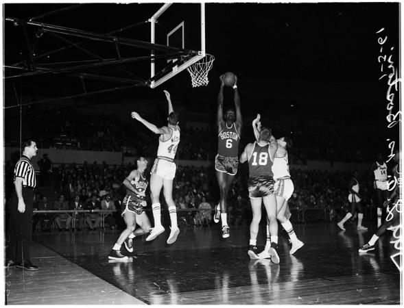 Basketball... Los Angeles Lakers versus Boston Celtics, 1961