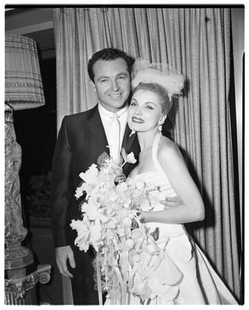 Debra Paget wedding, 1958