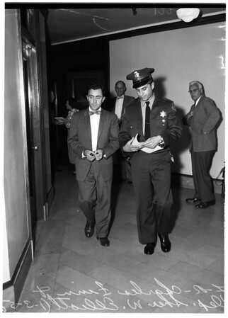 Charles Finn goes to jail on contempt charges, 1958