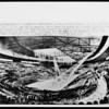 An artist's conception of the completed interior of the Los Angeles Memorial Sports Arena, ca.1957