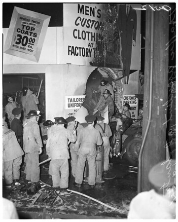 Trailer into building at Santa Monica and Vine, 1958