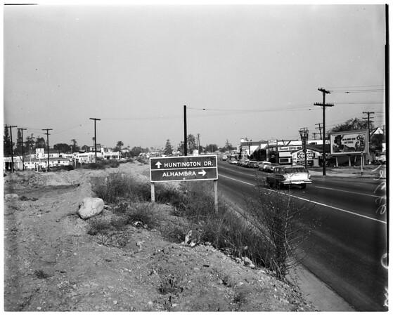 Scenes along Huntington Drive, 1959