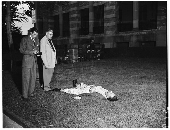 Janitor found dead at University of California, Los Angeles (Poison) suicide, 1952