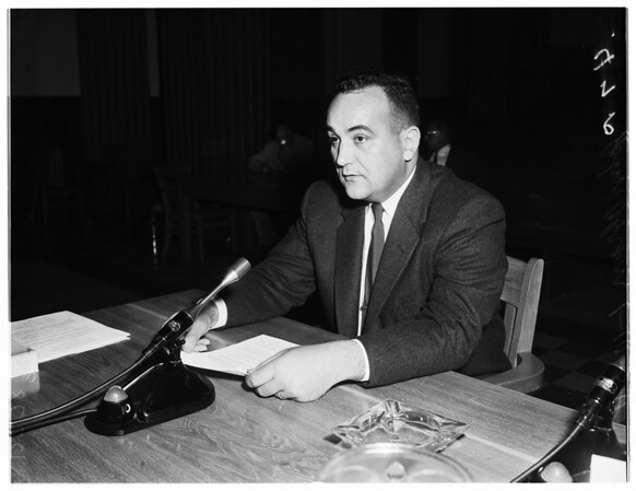 Education hearing, 1958