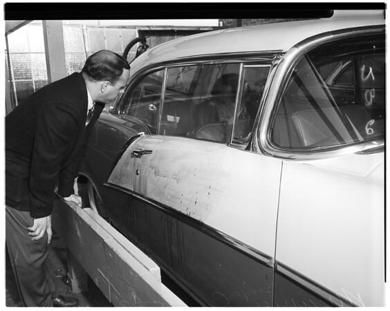 Missing singer's car, 1956