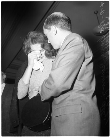Narcotics trial (Barbara Burns), 1958