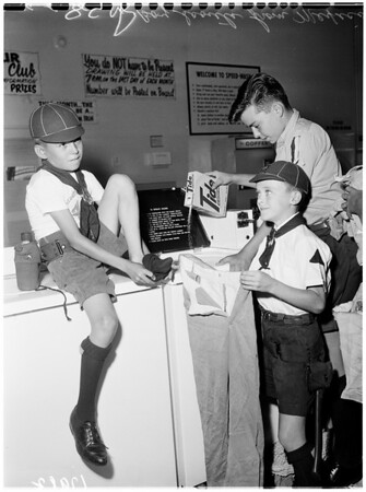 Boy scouts from Mexico, 1961