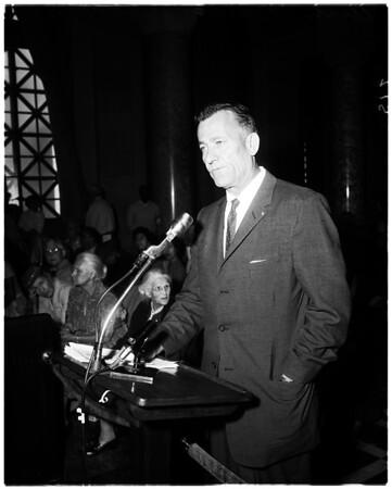 Chavez Ravine evictions (hearing), 1959