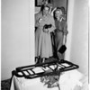 Woman trapped in folding bed, 1952.