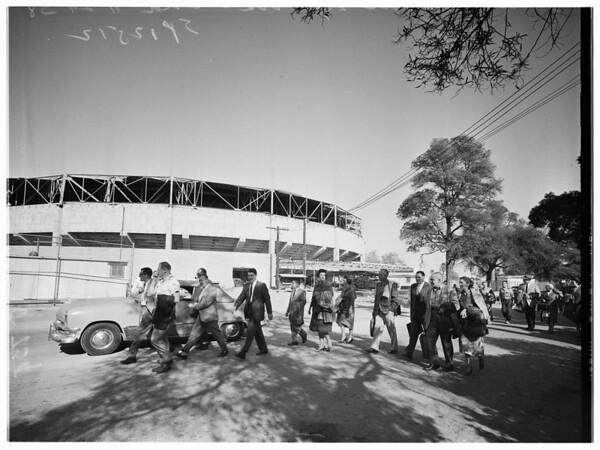 Sports arena, 1958