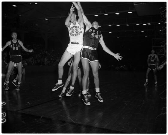 Basketball -- University of California Los Angeles versus University of Southern California, 1958
