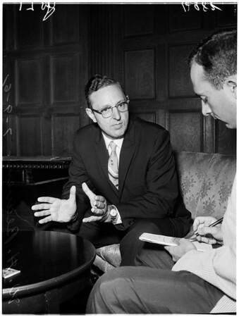 Alcohol seminar at Biltmore Hotel, 1961