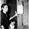 Eviction notice (Chavez Ravine), 1959
