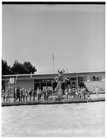 Glendale swim show, 1957