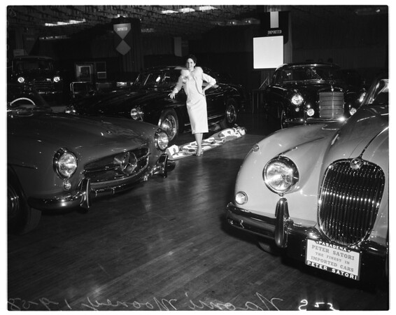 Imported car show, 1958
