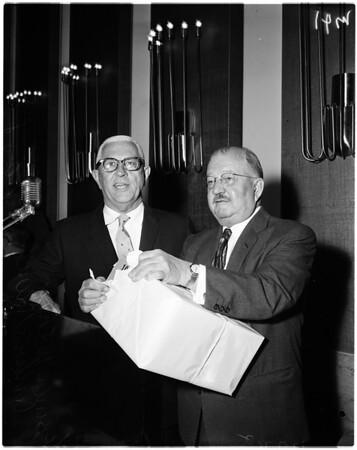 Luncheon for Arthur Will (Statler), 1958