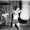 Boxing Basilio work out, 1958