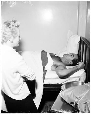 Lovers shooting, 1958