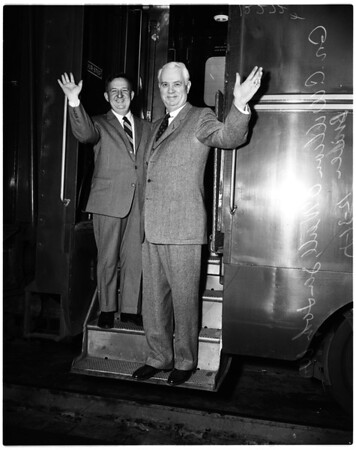 Bricker and O'Neill arrival, 1957