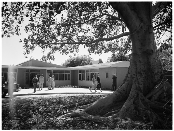 John Tracy clinic opening, 1952.