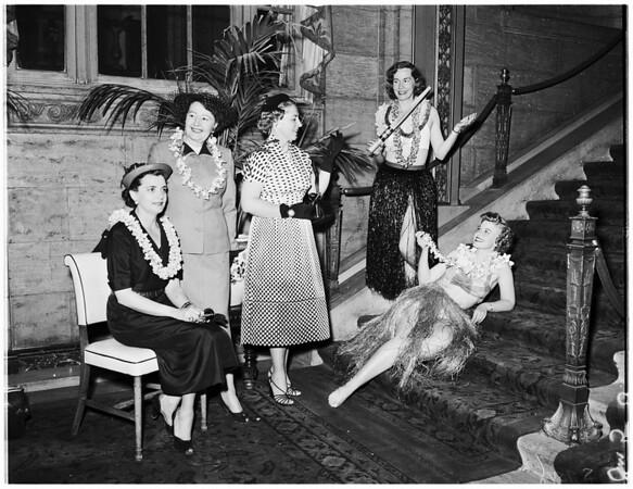 Assistance League flower show, 1952