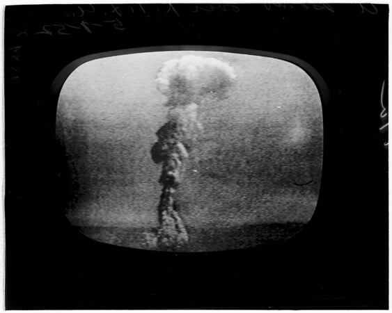 A Bomb from TV camera (Los Angeles), 1952.