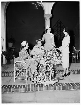 University Club Members plan spring dance, 1952
