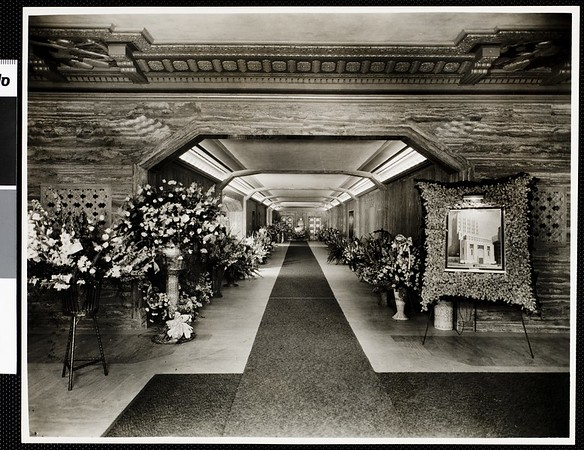 Interior view of the Los Angeles Stock Exchange building, ca. 1930