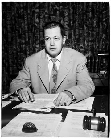 Examiner TV guest, 1952.