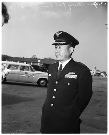 Lieutenant General Chung Yul Kim and Colonel Dan Cooper, 1956