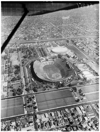 Aerials of Sports Arena and Coliseum, 1959