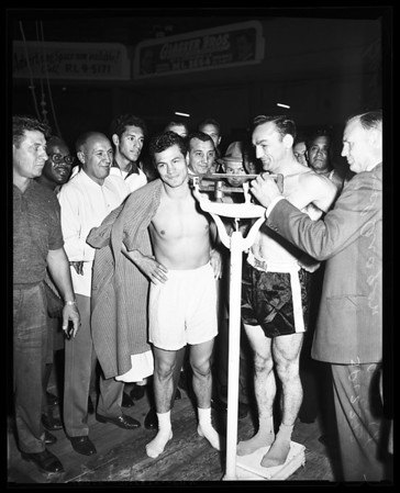 Boxing weigh in, 1958