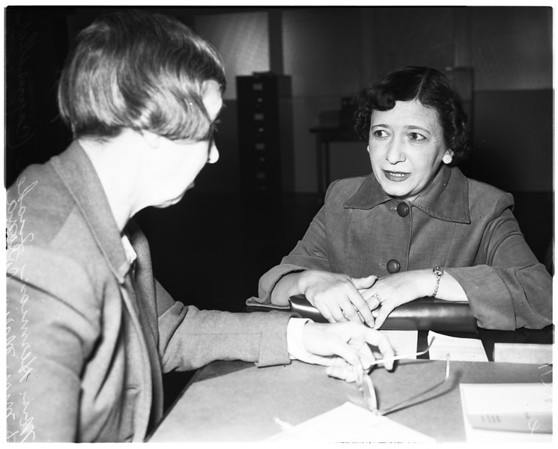 Senior citizens service center, 1956
